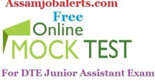 Online Mock Test Model paper For General Knowledge of DTE Junior Assistant Recruitment