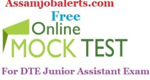Online Mock Test Model paper For General Knowledge of DTE Junior Assistant Recruitment