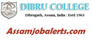 Dibru College Assistant Professor Recruitment