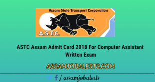 ASTC Computer Assistant contractual recruitment exam Admit Card download
