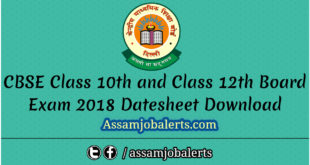CBSE Class 10th and Class 12th Board Exam 2018 Datesheet Download