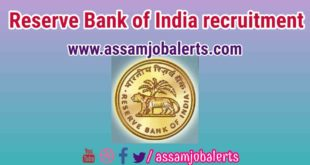 Reserve Bank of India recruitment of Assistant for total 27 posts