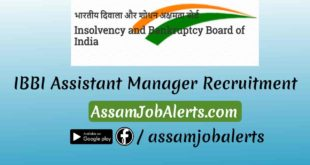 IBBI Assistant Manager Recruitment
