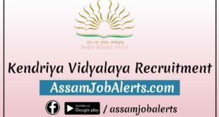 KV Sivasagar Recruitment For Various Posts