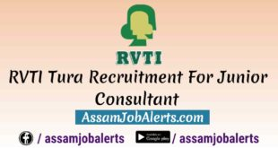 RVTI Tura Recruitment