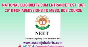 NATIONAL ELIGIBILITY CUM ENTRANCE TEST (UG), 2018 FOR ADMISSIONS TO MBBS, BDS COURSE