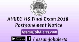 AHSEC HS Final Exam 2018 Postponement Notice