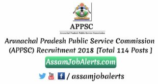 Arunachal Pradesh Public Service Commission (APPSC) Recruitment 2018