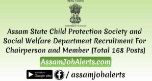 Assam State Child Protection Society and Social Welfare Department Recruitment For Chairperson and Member