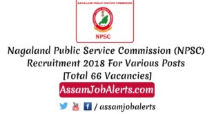 Nagaland Public Service Commission (NPSC) Recruitment 2018 - Agriculture Officer, Agriculture Inspector, Demonstrator Asst. Conservator of Forest, SDO, Junior Engineer , Junior Soil Conservation Officer ,Technical Assistant Posts