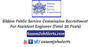 Sikkim Public Service Commission Recruitment For Assistant Engineer