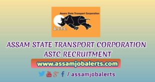 ASTC ASSAM INTERVIEW NOTICE FOR RECRUITMENT OF APO, JUNIOR ENGINEER (Civil), FOREMAN AND INTERNAL AUDITOR POSTS