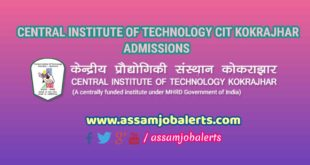 CENTRAL INSTITUTE OF TECHNOLOGY CIT KOKRAJHAR ADMISSION NOTICE 2018-19