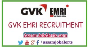 GVK EMRI ASSAM RECRUITMENT 2018 FOR VARIOUS POSTS