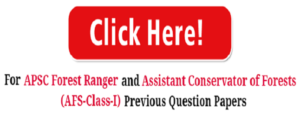 APSC Forest Ranger Previous Year Question Papers