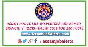 ASSAM POLICE SI RECRUITMENT 2018