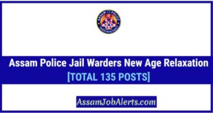 Assam Police Jail Warders New Age Relaxation OBC and MOBC