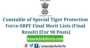 Constable of Special Tiger Protection Force-SRPF Final Merit Lists (Final Result)