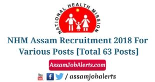 NHM Assam Recruitment 2018, Assam Job Alert