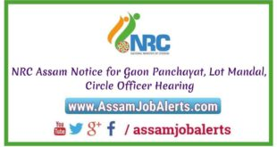 NRC Family Tree Verification or Gaon Panchayat, Lot Mandal, Circle Officer Hearing