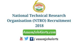National Technical Research Organisation (NTRO) Recruitment 2018