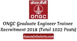 ONGC Graduate Engineer Trainee Recruitment 2018