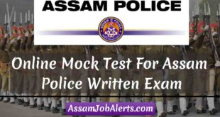 Online Mock Test For Assam Police Written Exam on GK