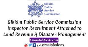 Sikkim Public Service Commission Inspector Recruitment