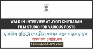 Walk-In-Interview at Jyoti Chitraban Film Studio For Various Posts