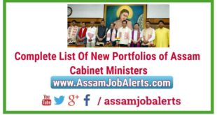 Complete List Of New Portfolios of Assam Cabinet Ministers 2018