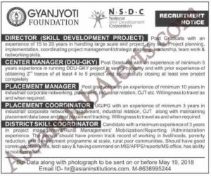 Gyanjyoti Foundation Recruitment 2018