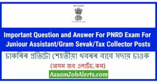 PNRD Previous Question Paper's Question and Answers