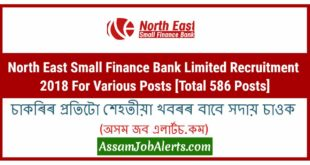 North East Small Finance Bank Limited Recruitment 2018