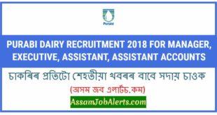 Purabi Dairy Recruitment 2018
