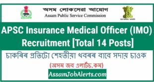 APSC Insurance Medical Officer (IMO) Recruitment