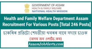 Health and Family Welfare Department Assam Recruitment For Various Posts