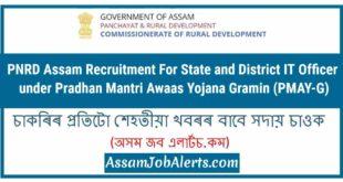 PNRD Assam Recruitment For State and District IT Officer