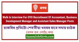 Walk In Interview For OYO Recruitment Of Accountant, Business Development Manager and Assistant Sales Manager Posts