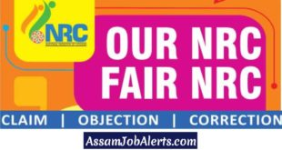 Details of NRC Claims and Objections Form Submission - Download Online Forms at www.nrcassam.nic.in