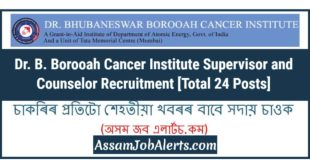 Dr. B. Borooah Cancer Institute Supervisor and Counselor Recruitment