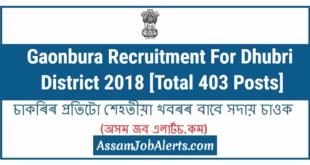 Gaonbura Recruitment For Dhubri District