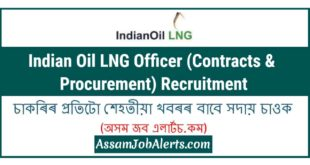 Indian Oil LNG Officer (Contracts & Procurement) Recruitment