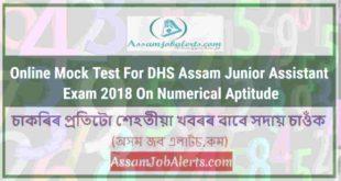Online Mock Test ForDHS Assam Junior Assistant Exam 2018On Numerical Aptitude