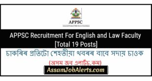 APPSC Recruitment For English and Law Faculty