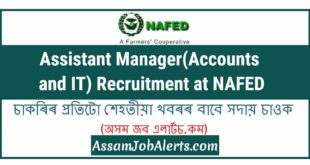 Assistant Manager(Accounts and IT) Recruitment at NAFED
