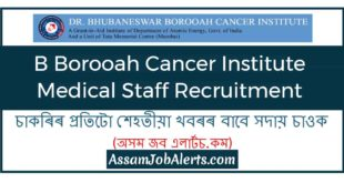 B Borooah Cancer Institute Medical Staff Recruitment