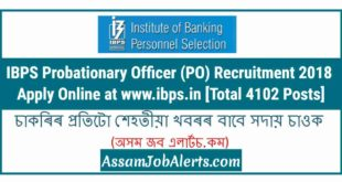 IBPS Probationary Officer (PO) Recruitment 2018 - Apply Online at www.ibps.in