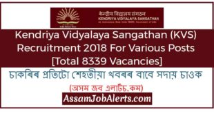 Kendriya Vidyalaya Sangathan (KVS) Recruitment 2018 - Apply Online at www.kvsangathan.nic.in