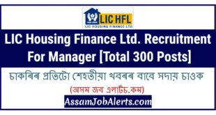 LIC Housing Finance Ltd. Recruitment For Manager