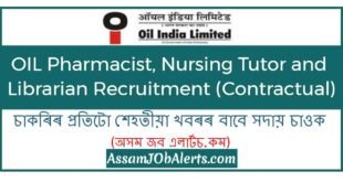 OIL Pharmacist, Nursing Tutor and Librarian Recruitment